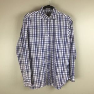 Michael Kor Men's button down plaid shirt (M)